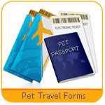 pet travel shipping forms