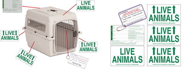 Deluxe Live Animal Label Set Of 5 349 Free Shipping Dryfur