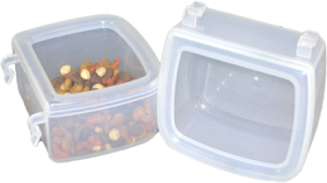 Pet Airline Food Water dishes transparent
