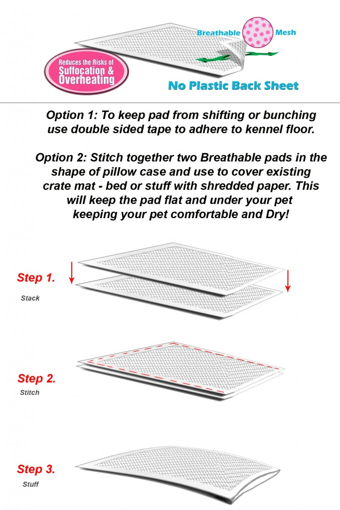 breathable kennel pad liners