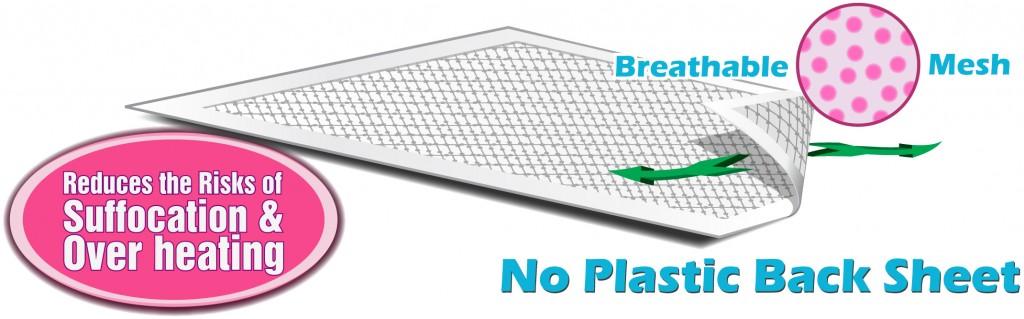 Plastic free super absorbent travel pads