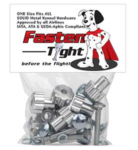 DryFur Pet Carrier Metal Fasteners Nuts Bolts