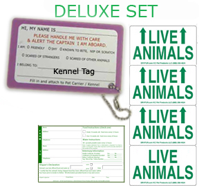 Live Animal Labels Deluxe Set