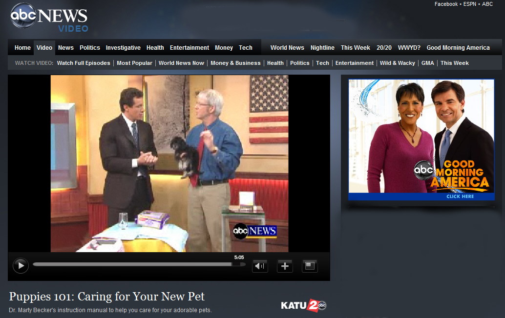DryFur Pads Featured On GMA DR. Marty Beckers Puppies 101