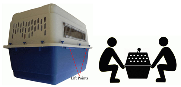 lifting points dog airline kennel