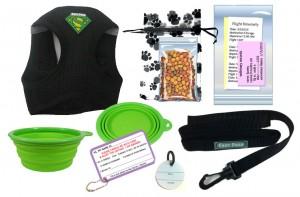 In cabin pet travel kit