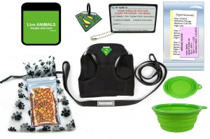 In cabin travel kit for pets