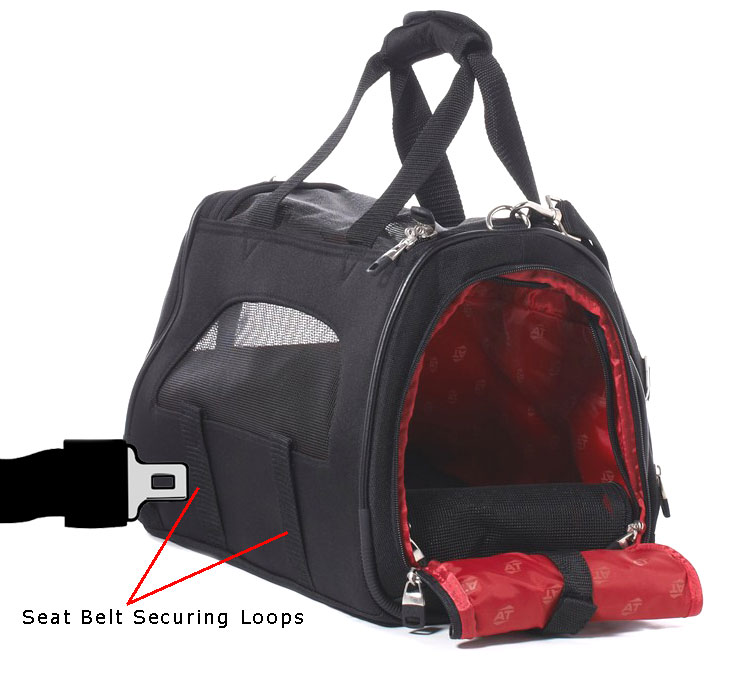 seat belt loops on pet carrier