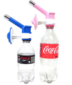 Dog crate water bottle nozzle
