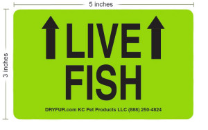 live fish label
